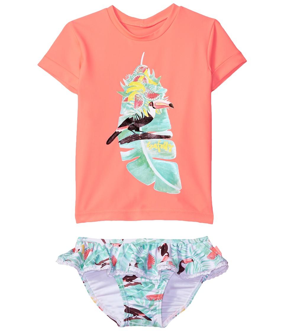 Seafolly Kids Touci Frutti Short Sleeve Rashie Set (Infant/Toddler/Little Kids) (Watermelon Pink) Girl
