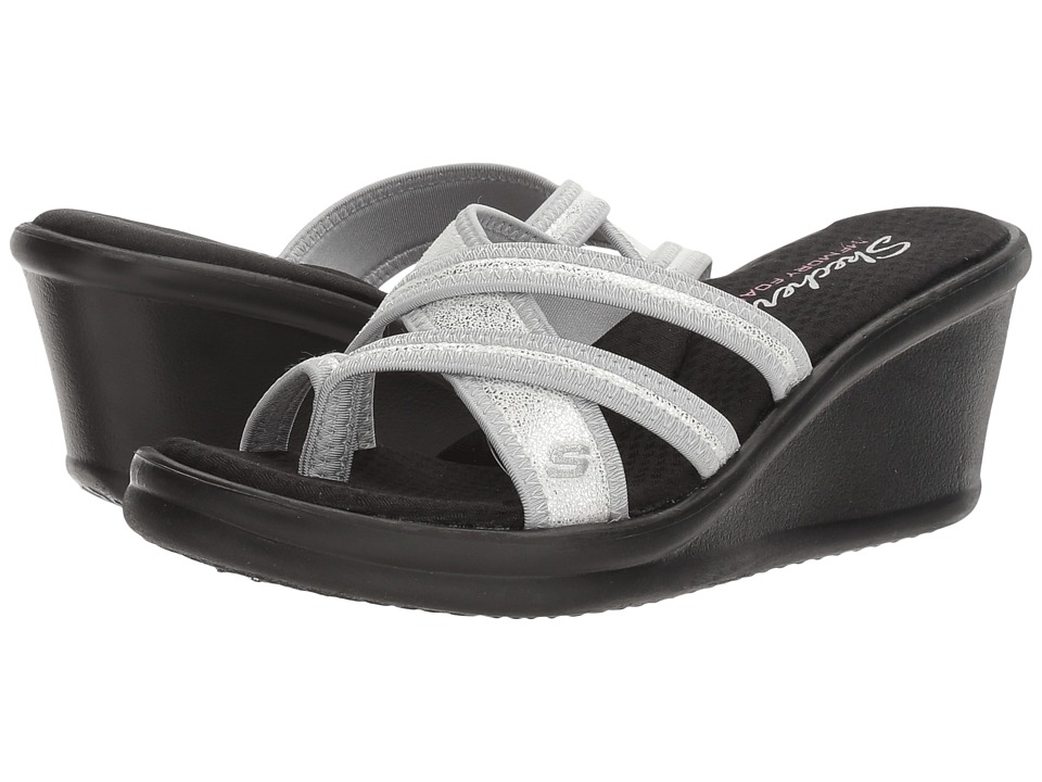 SKECHERS - Rumblers - Happy Dayz (Silver) Women's Shoes