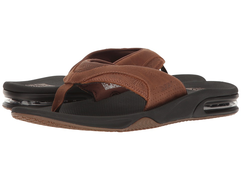 Reef - Fanning Leather (Brown Tweed 1) Men's Sandals