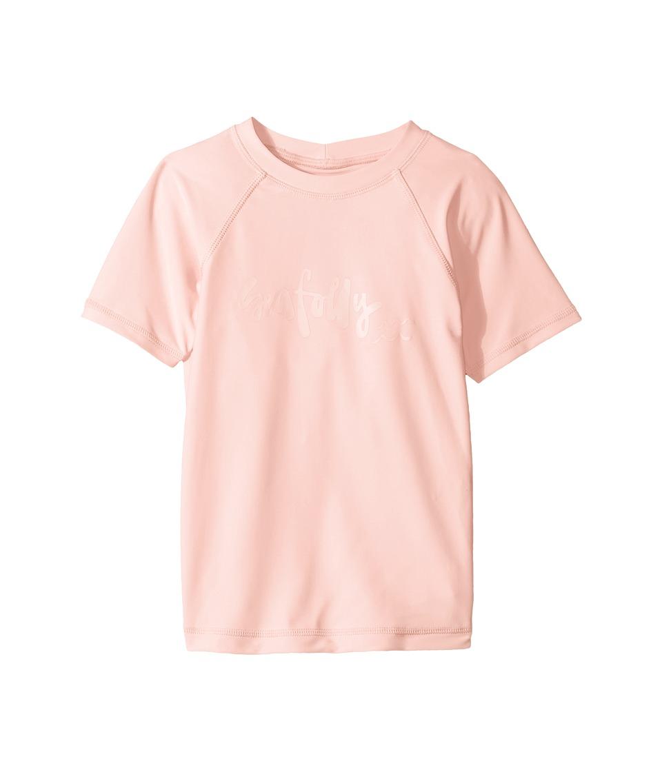 Seafolly Kids Sweet Summer Short Sleeve Rashie (Infant/Toddler/Little Kids) (Ballet Pink) Girl