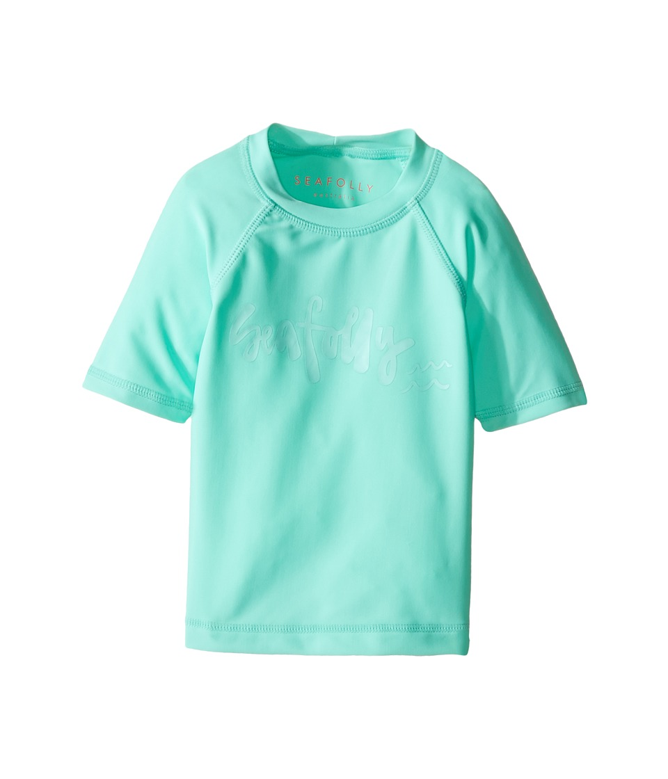 Seafolly Kids - Sweet Summer Short Sleeve Rashie (Infant/Toddler/Little Kids) (Mint) Girl's Swimwear