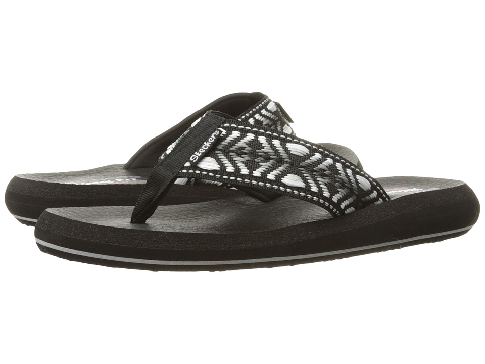 SKECHERS - Asana - Seek (Black/White) Women's Shoes