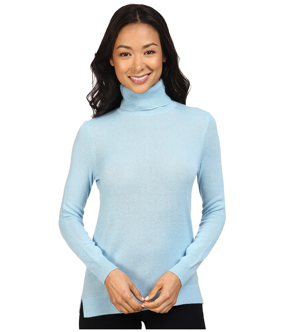Pendleton - Petite Turtleneck (Soft Blue) Women's Clothing