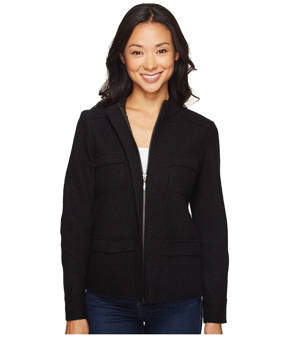 Pendleton - Petite Lindsey Boiled Wool Jacket (Black) Women's Coat