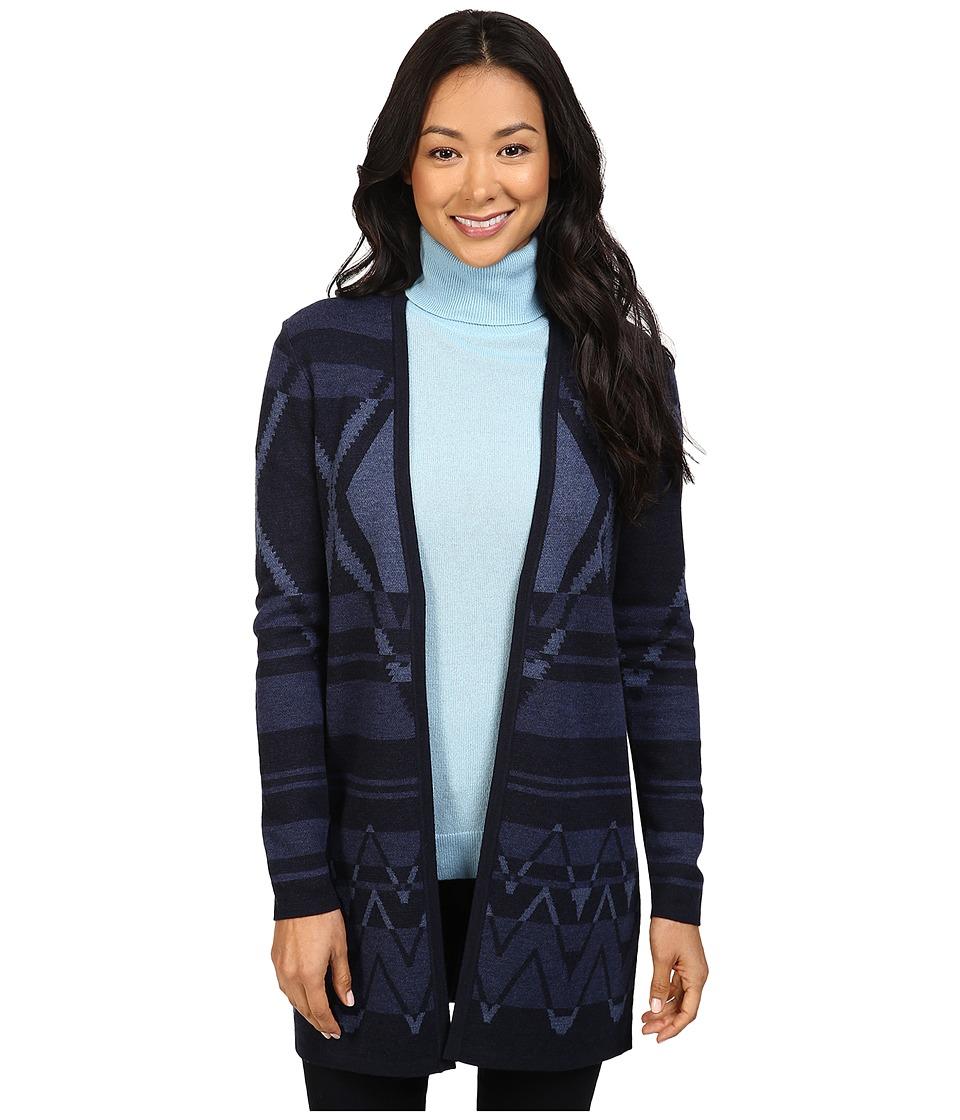 Pendleton - Petite Winter Nights Cardigan (Navy Heather Multi) Women's Sweater