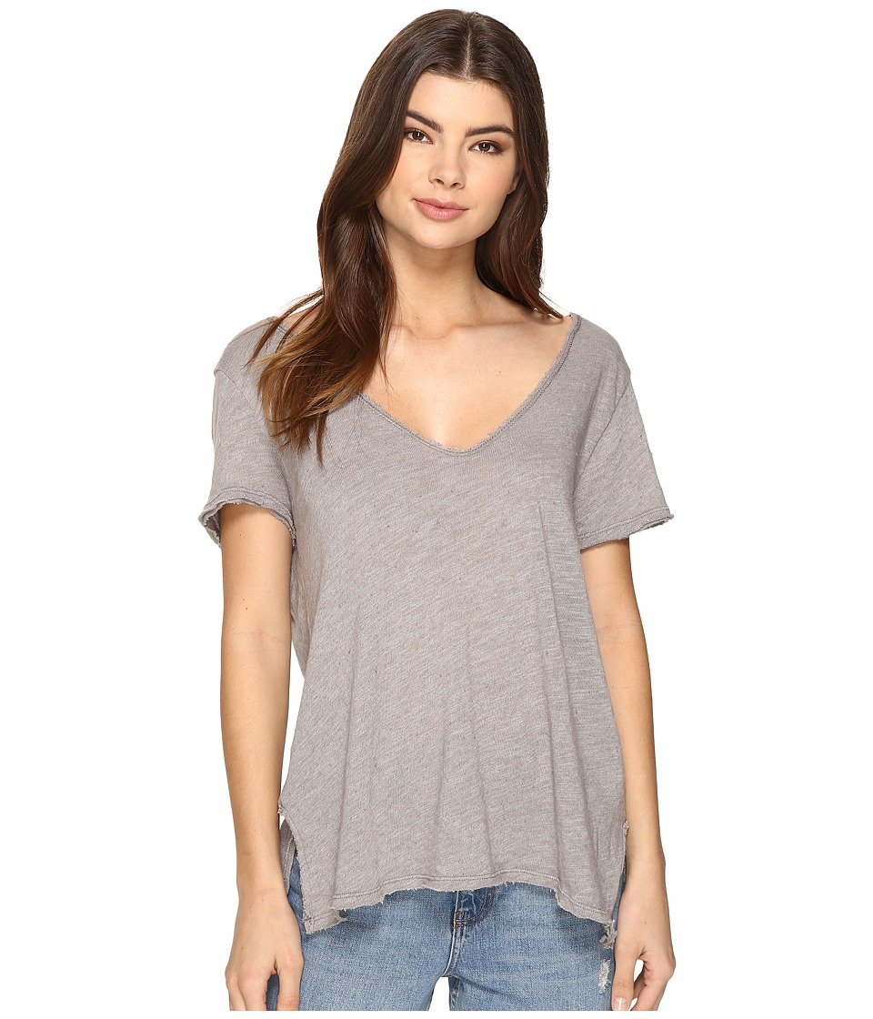 Project Social T - Favorite V Slit Tee (London Grey) Women's T Shirt