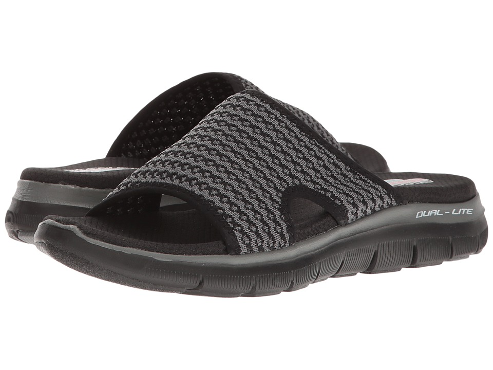 SKECHERS - Flex Appeal 2.0 (Black/Charcoal) Women's Shoes