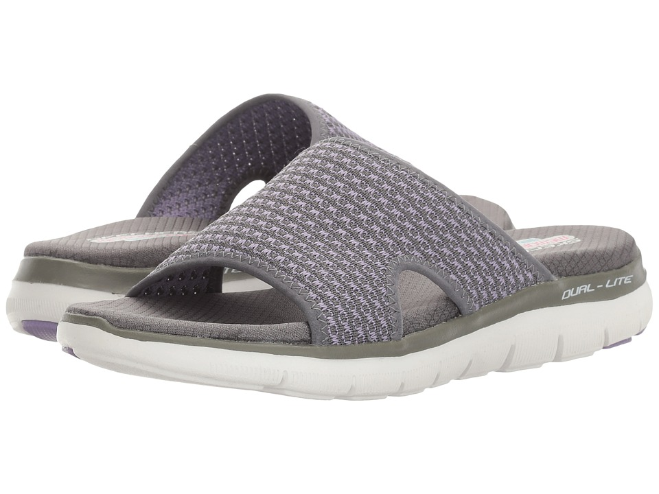 SKECHERS - Flex Appeal 2.0 (Charcoal/Lavender) Women's Shoes