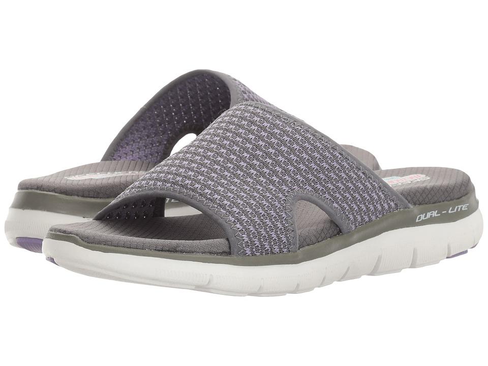SKECHERS - Flex Appeal 2.0 (Charcoal/Lavender) Women's Shoes