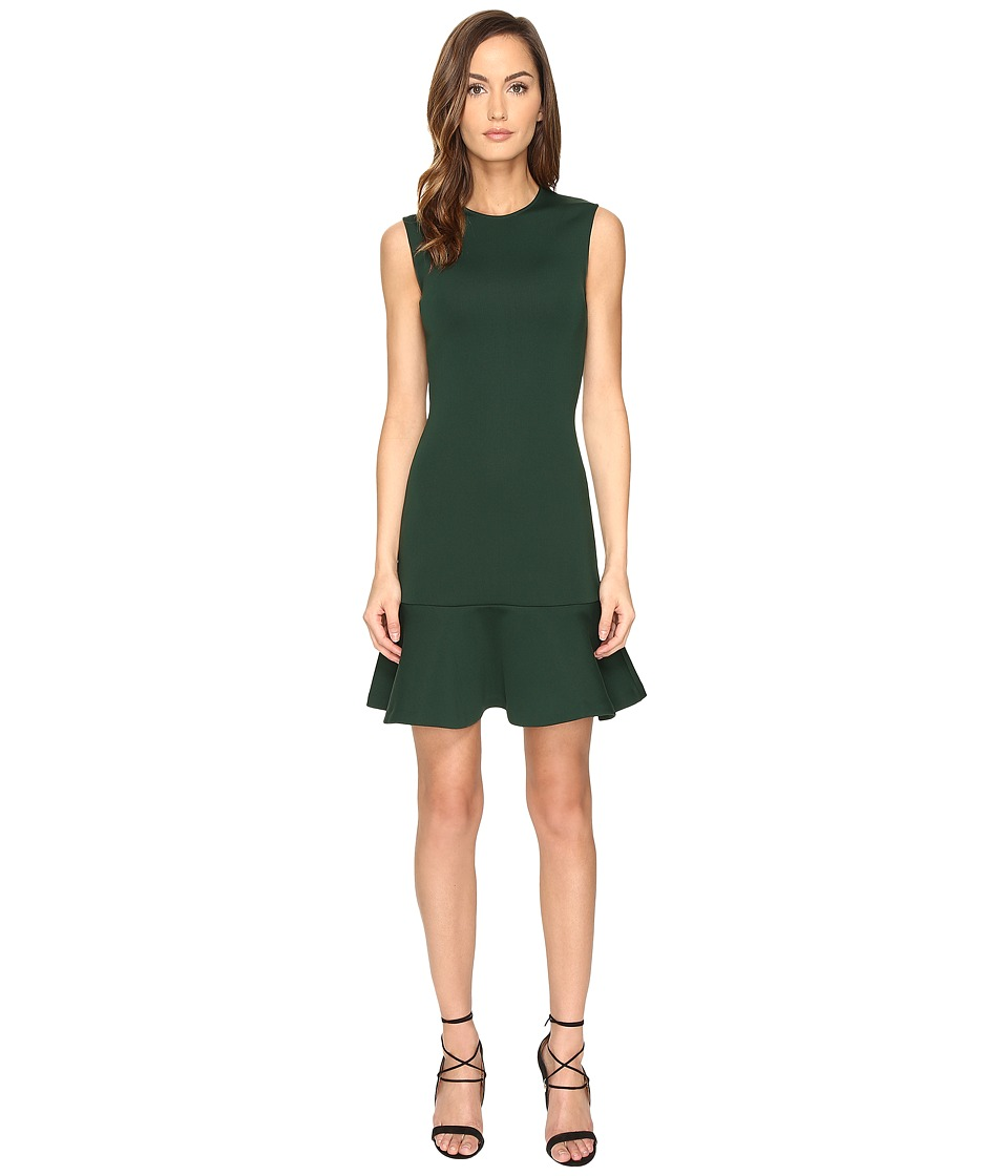 McQ - Peplum Mini Dress (Evergreen) Women's Dress