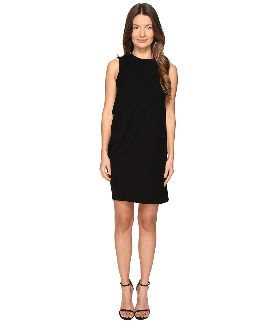McQ - Side Drape Dress (Black) Women's Dress