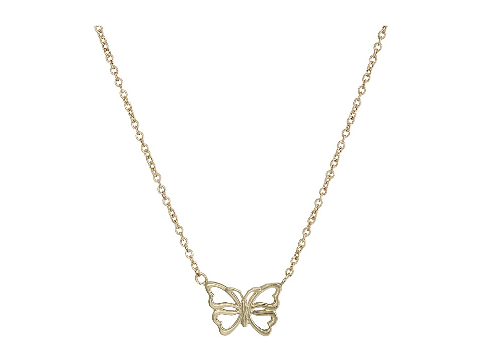 Dee Berkley - 14KT Yellow Gold Butterfly Necklace (Yellow Gold) Necklace