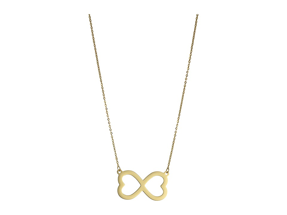 Dee Berkley - 14KT Yellow Gold Infinity Necklace (Yellow Gold) Necklace