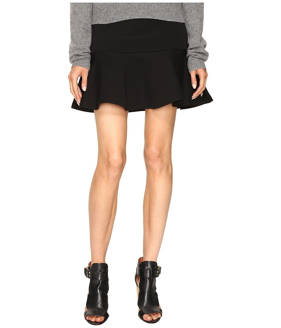 McQ - Peplum Mini Skirt (Darkest Black) Women's Skirt