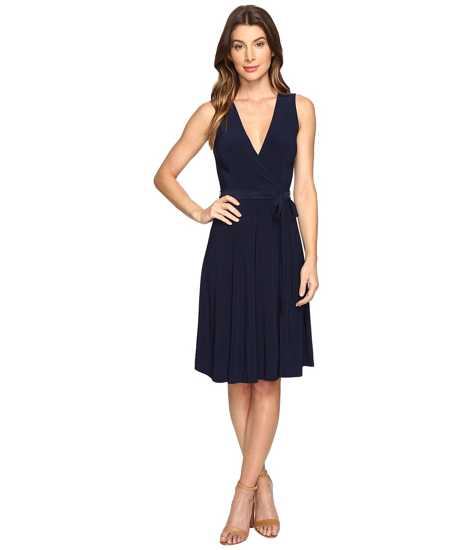 B Collection by Bobeau - Addie Wrap Dress (Navy) Women's Dress