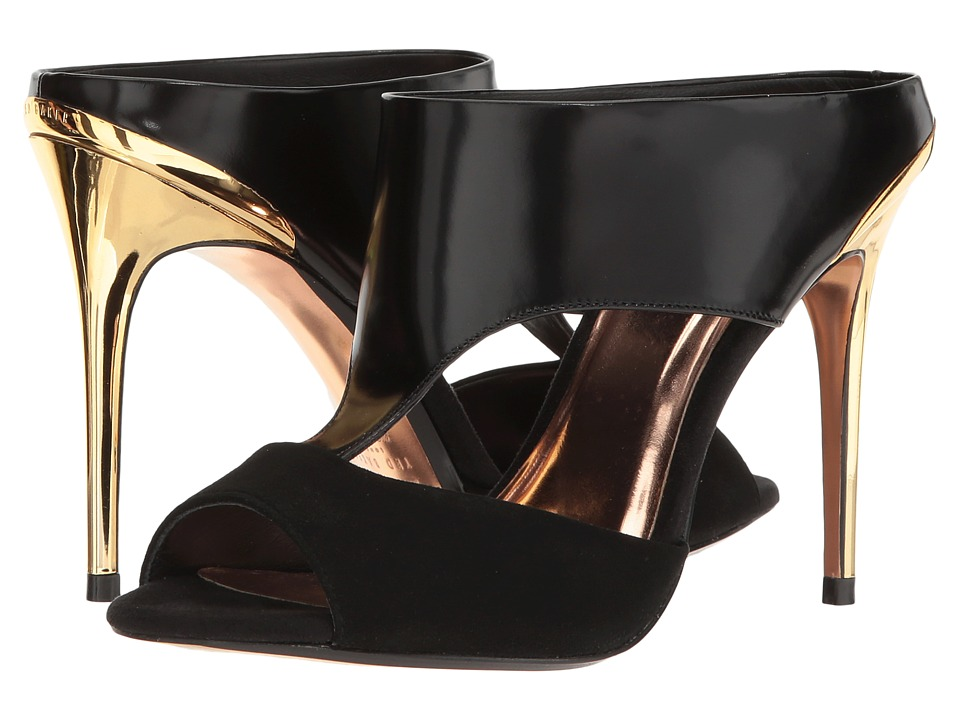 Ted Baker - Torr (Black/Gold Suede/Box Leather) High Heels