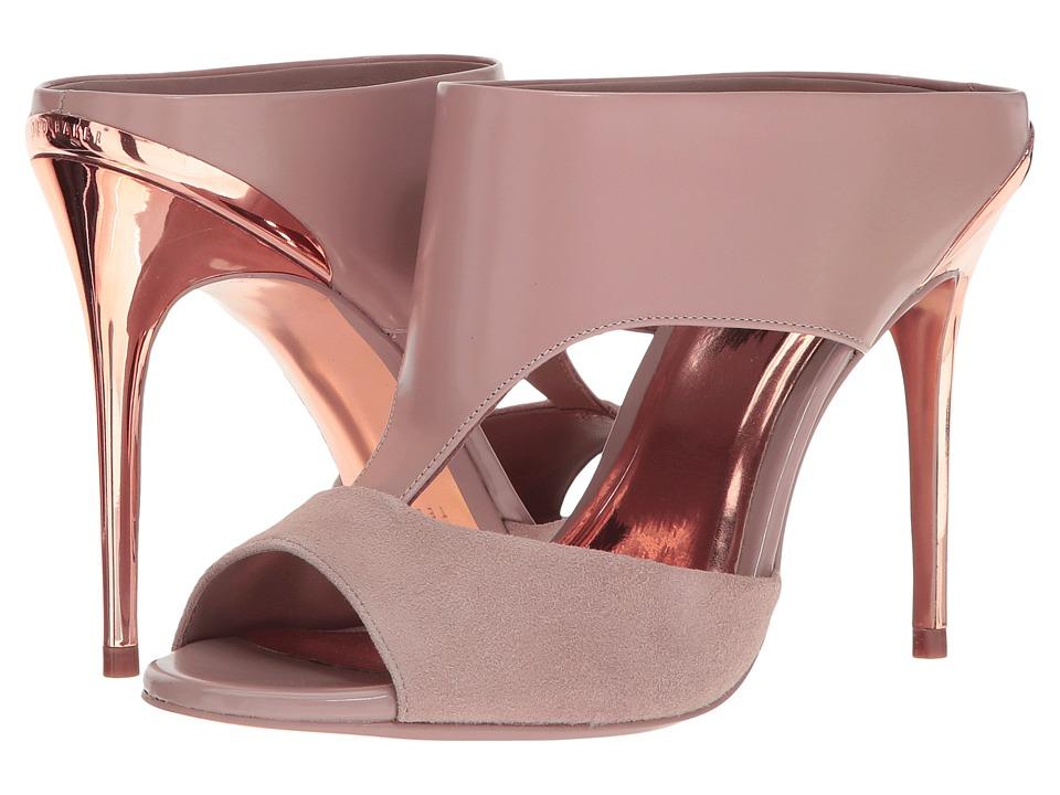 Ted Baker Torr (Mink/Rose Gold Suede/Box Leather) High Heels