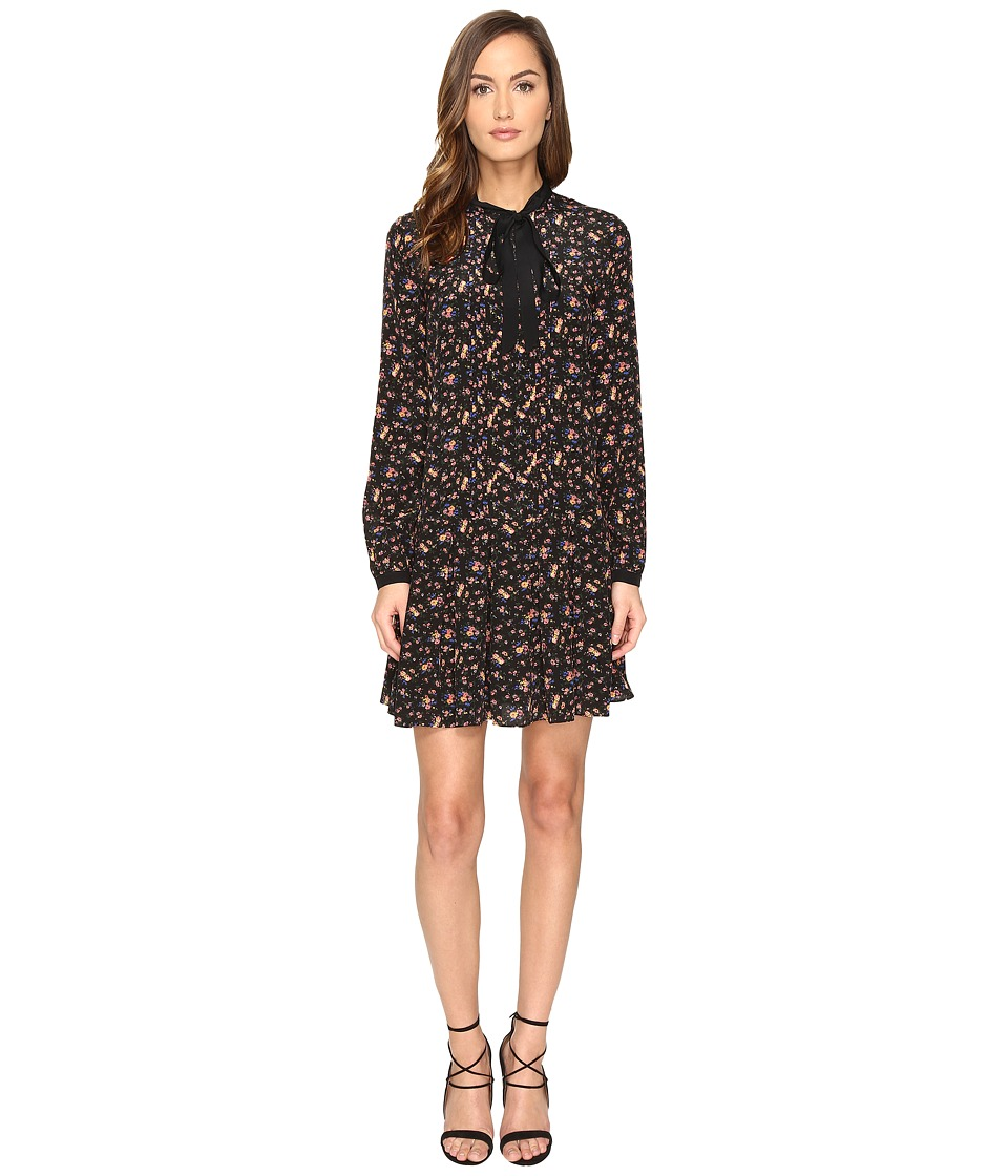 McQ Pintuck Pussybow Dress (Vintage Floral) Women