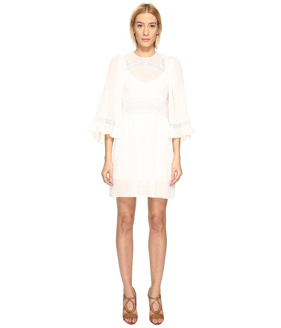 McQ - Volume Sleeve Dress (Ivory) Women's Dress