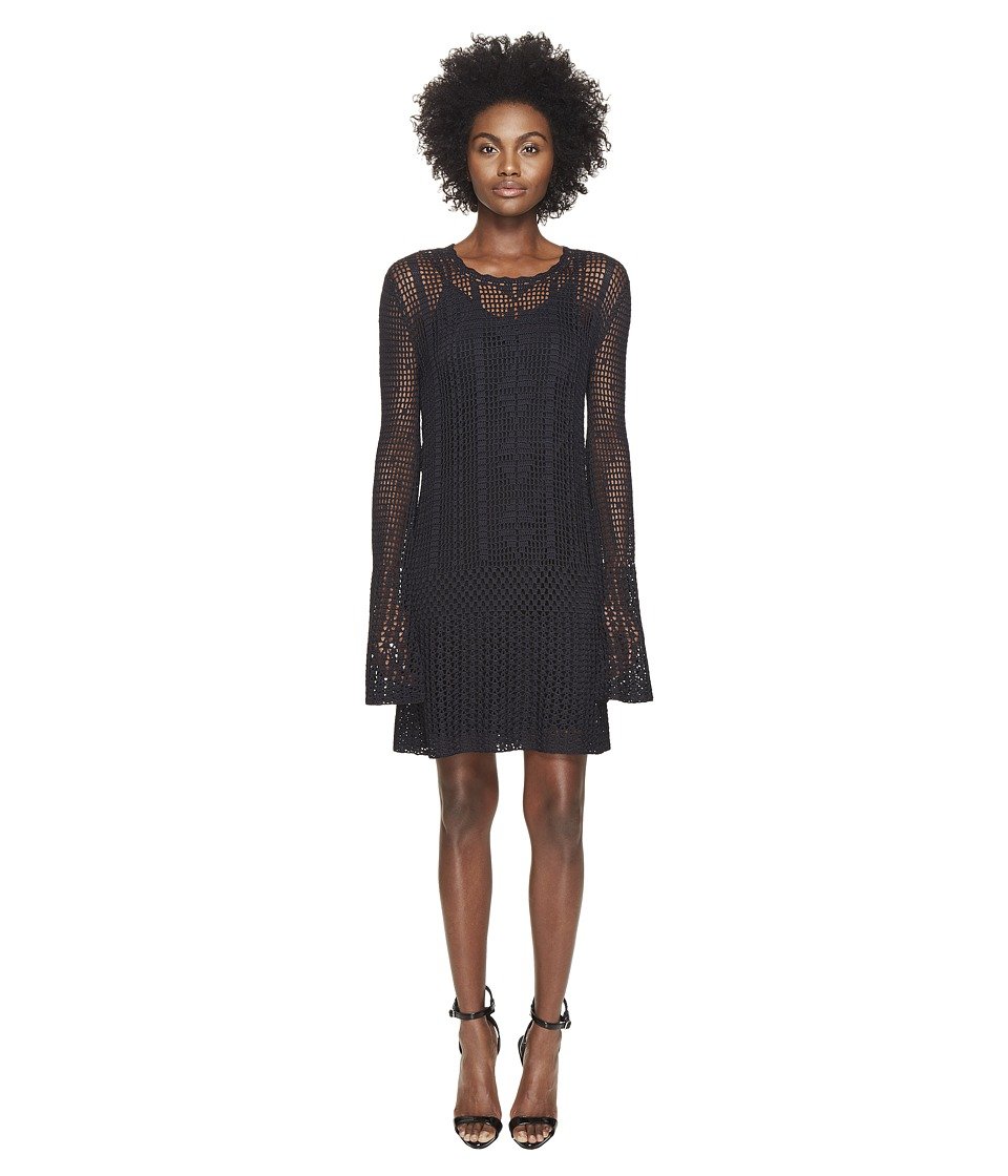 McQ - Fine Crochet Dress (Darkest Black) Women's Dress