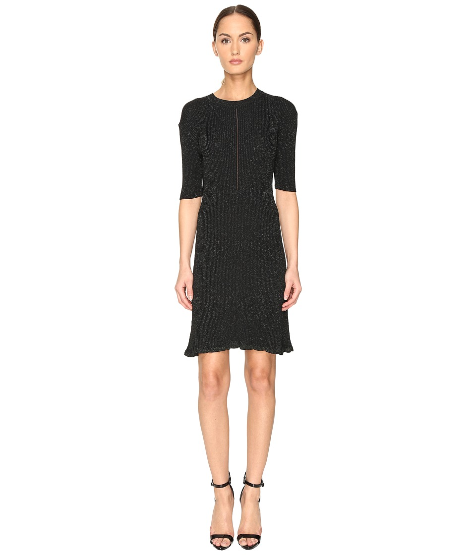 McQ - Crochet Skater Dress (Evergreen) Women's Dress