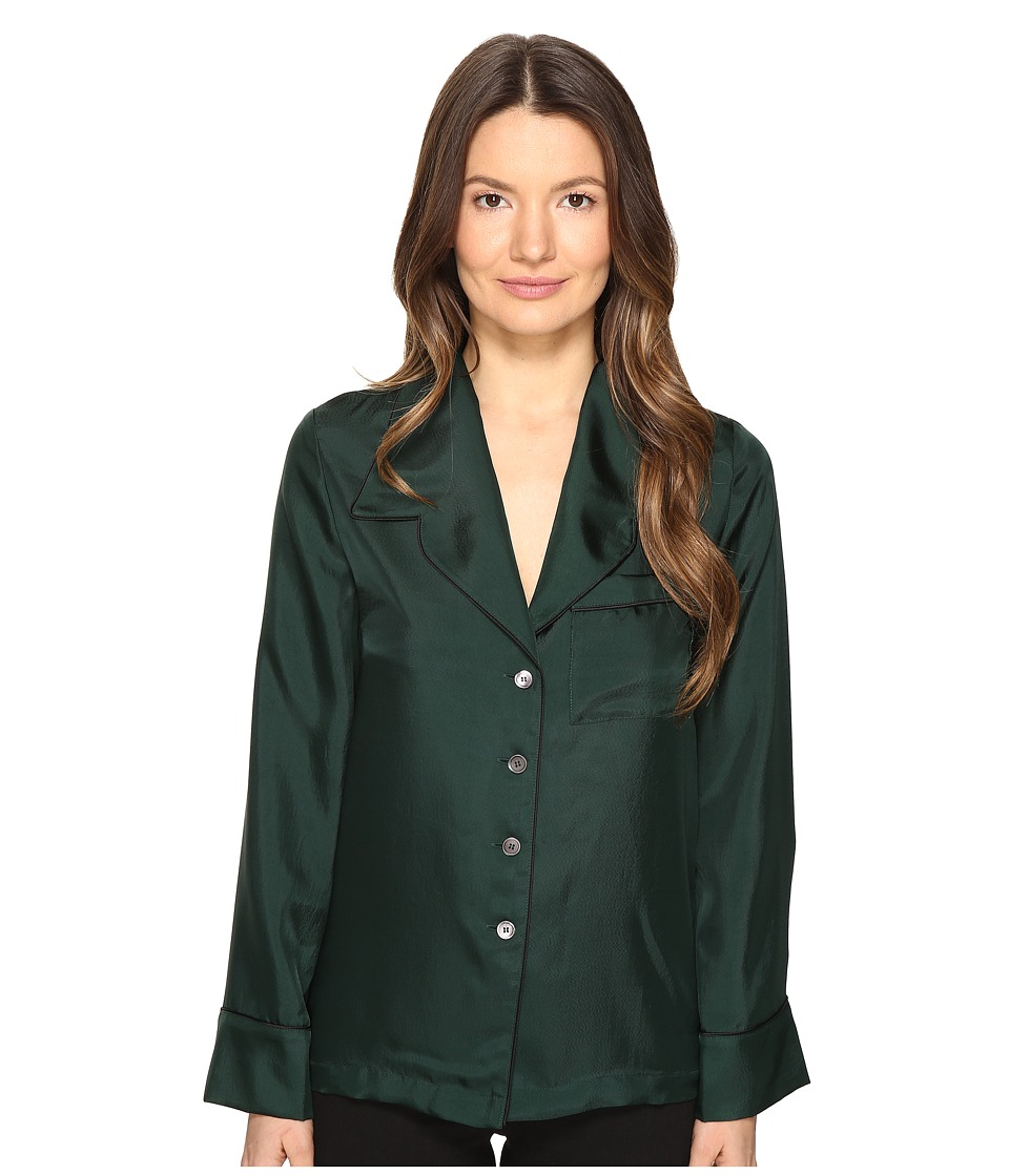 McQ - Lounge Shirt (Evergreen) Women's Long Sleeve Button Up