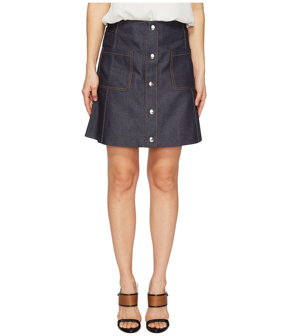 McQ - Denim Detail Pockets Skirt (Indigo) Women's Skirt