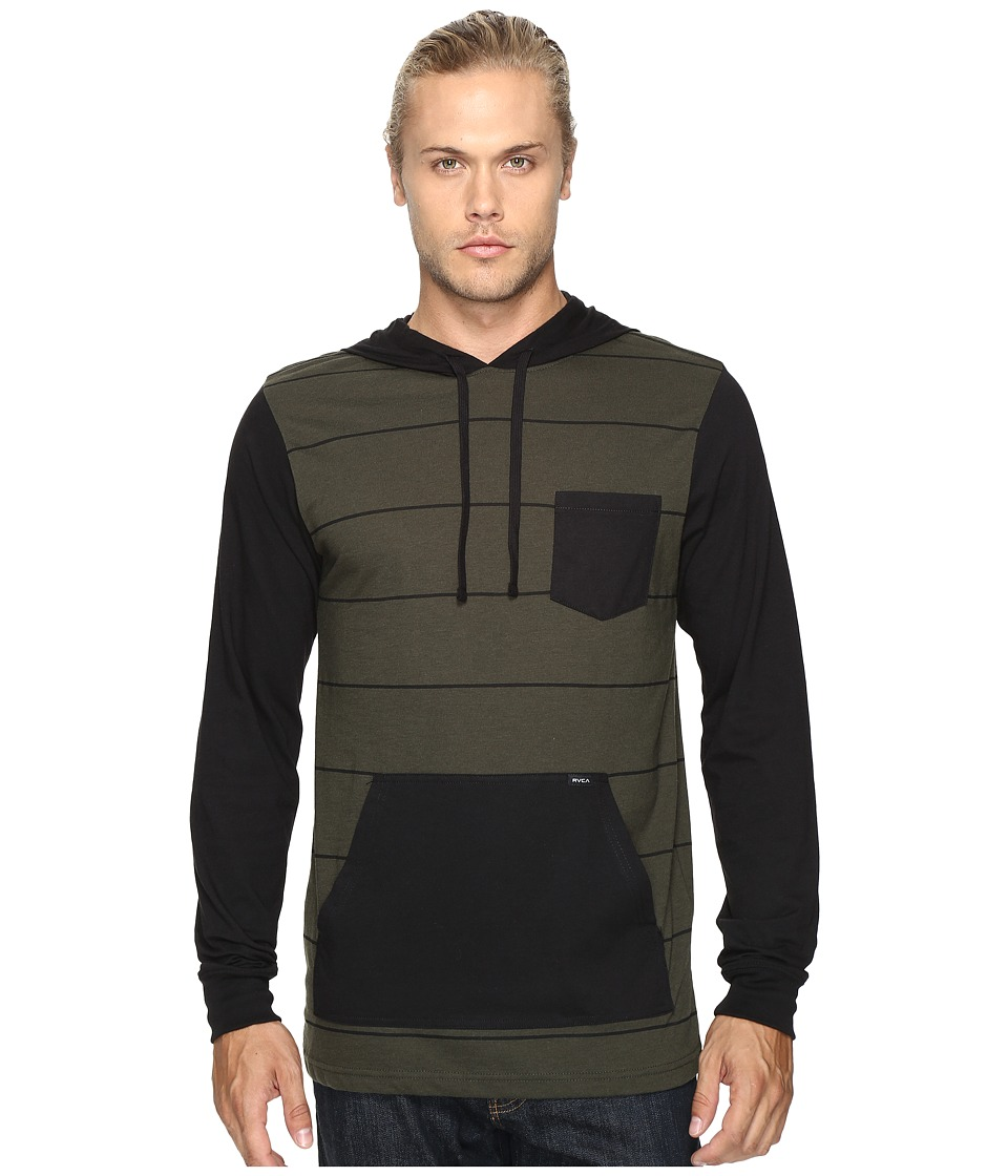 RVCA - Set Up Hoodie (Forest) Men's Sweatshirt