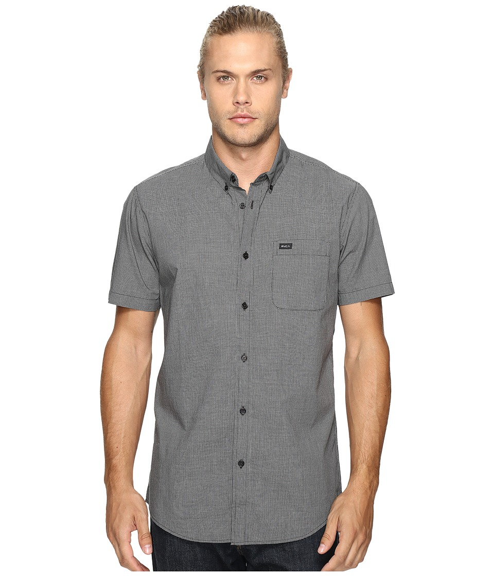 RVCA - That'll Do Micro Short Sleeve (Black) Men's Clothing