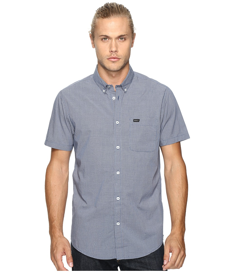 RVCA - That'll Do Micro Short Sleeve (Inmate Blue) Men's Clothing