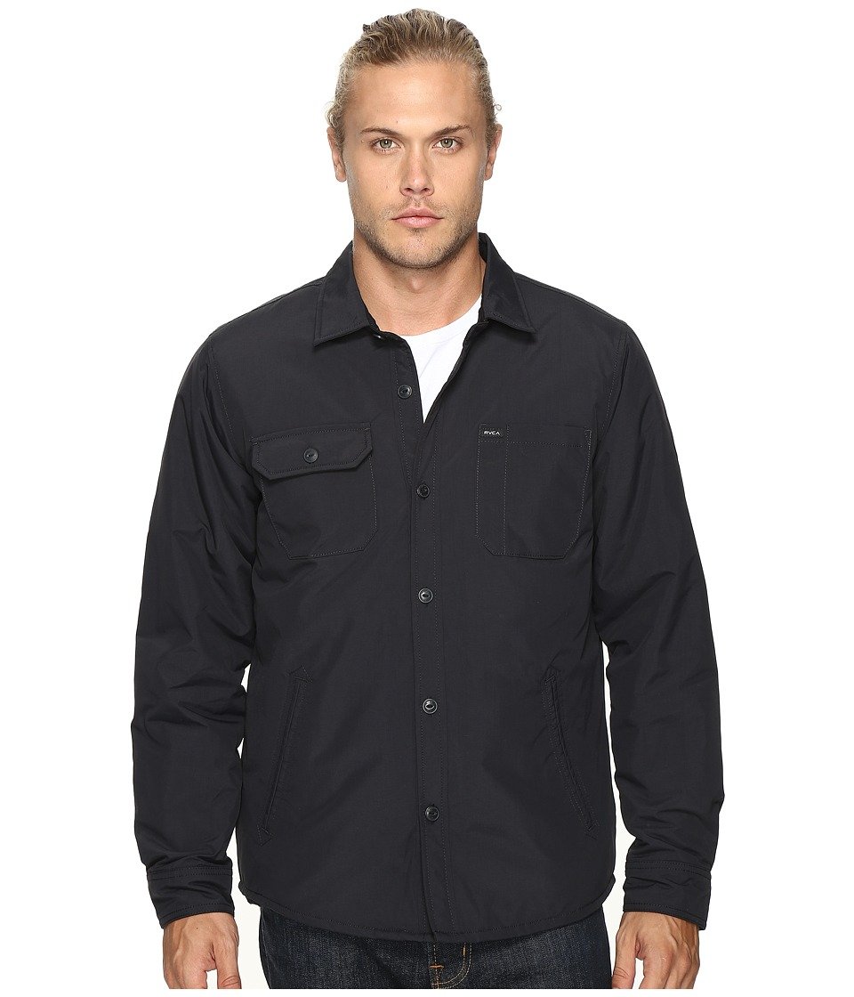 RVCA - CPO Shirt Jacket (Black) Men's Coat