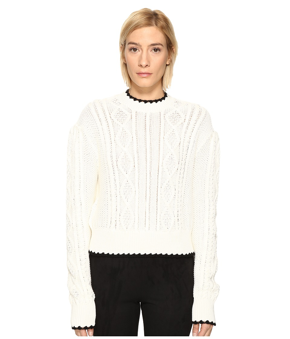 McQ - Scallop Cable Crew (Ivory) Women's Clothing