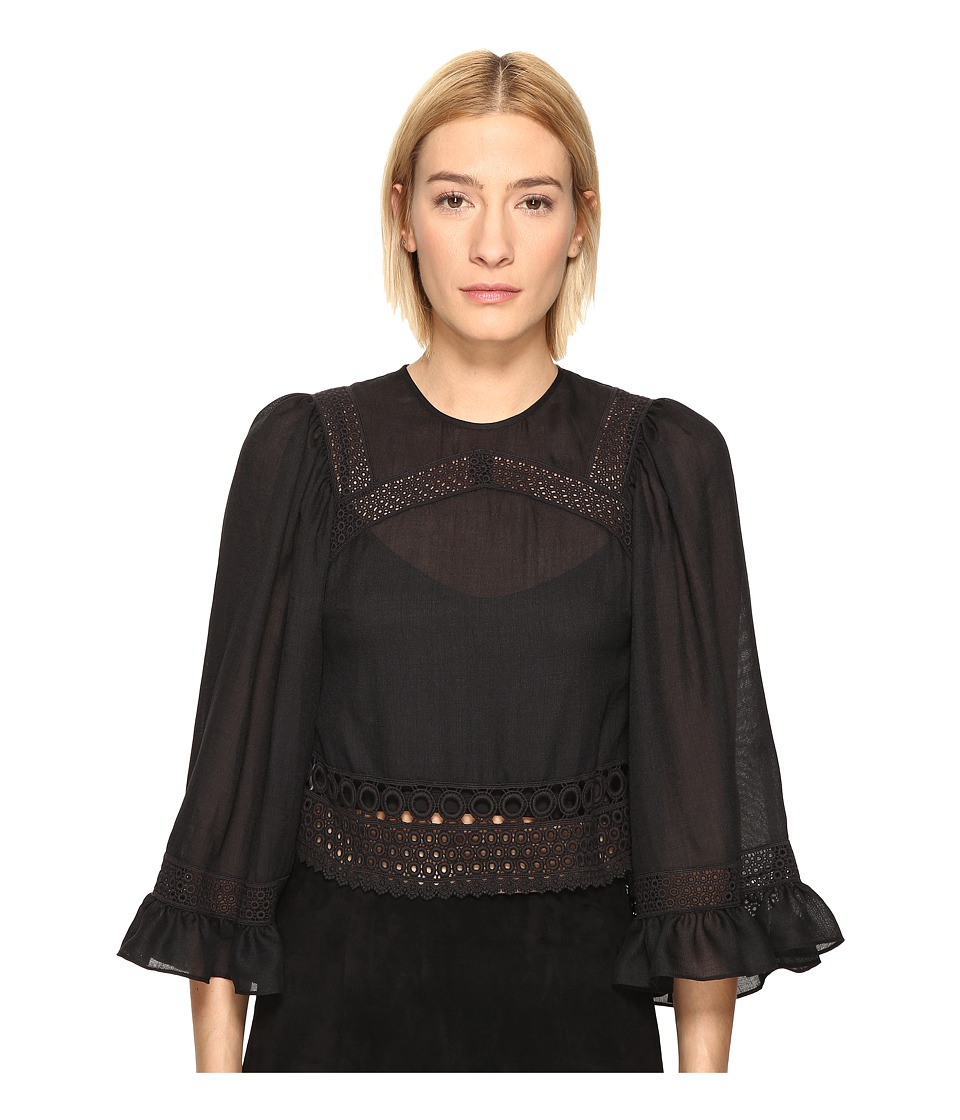 McQ - Volume Sleeve Top (Black) Women's Clothing