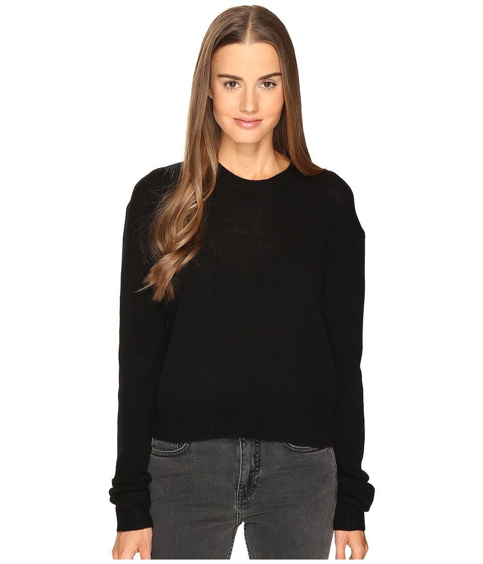 McQ - Lamb Basic Crew Neck (Darkest Black 1) Women's Clothing
