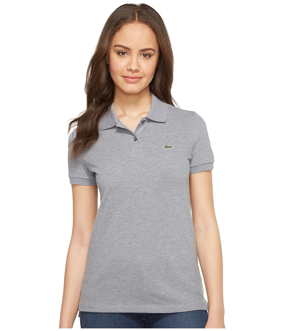 Lacoste - Short Sleeve Classic Fit Pique Polo Shirt (Chine Platinum) Women's Short Sleeve Knit