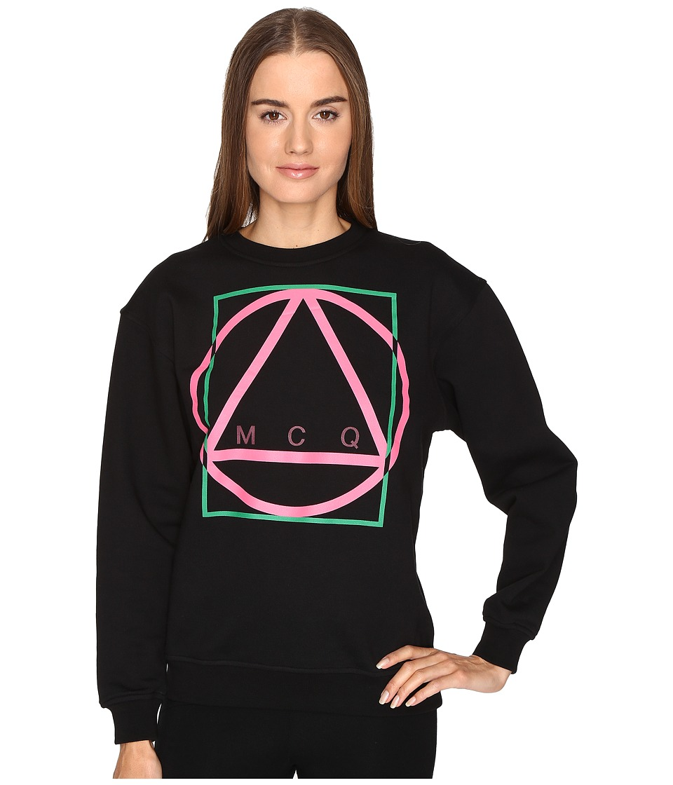 McQ - Classic Icon-Sweatshirt (Darkest Black) Women's Sweater