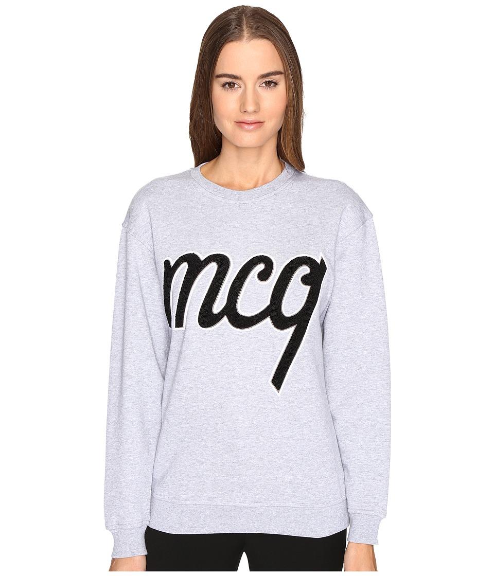 McQ - Classic Varsity (Grey Melange) Women's Sweater