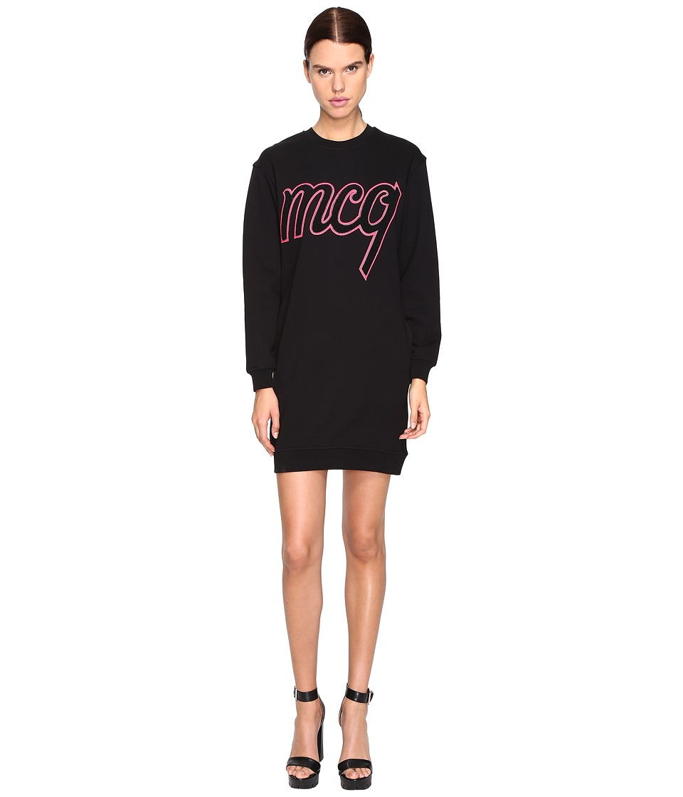 McQ - Classic Sweater Varsity (Black) Women's Dress