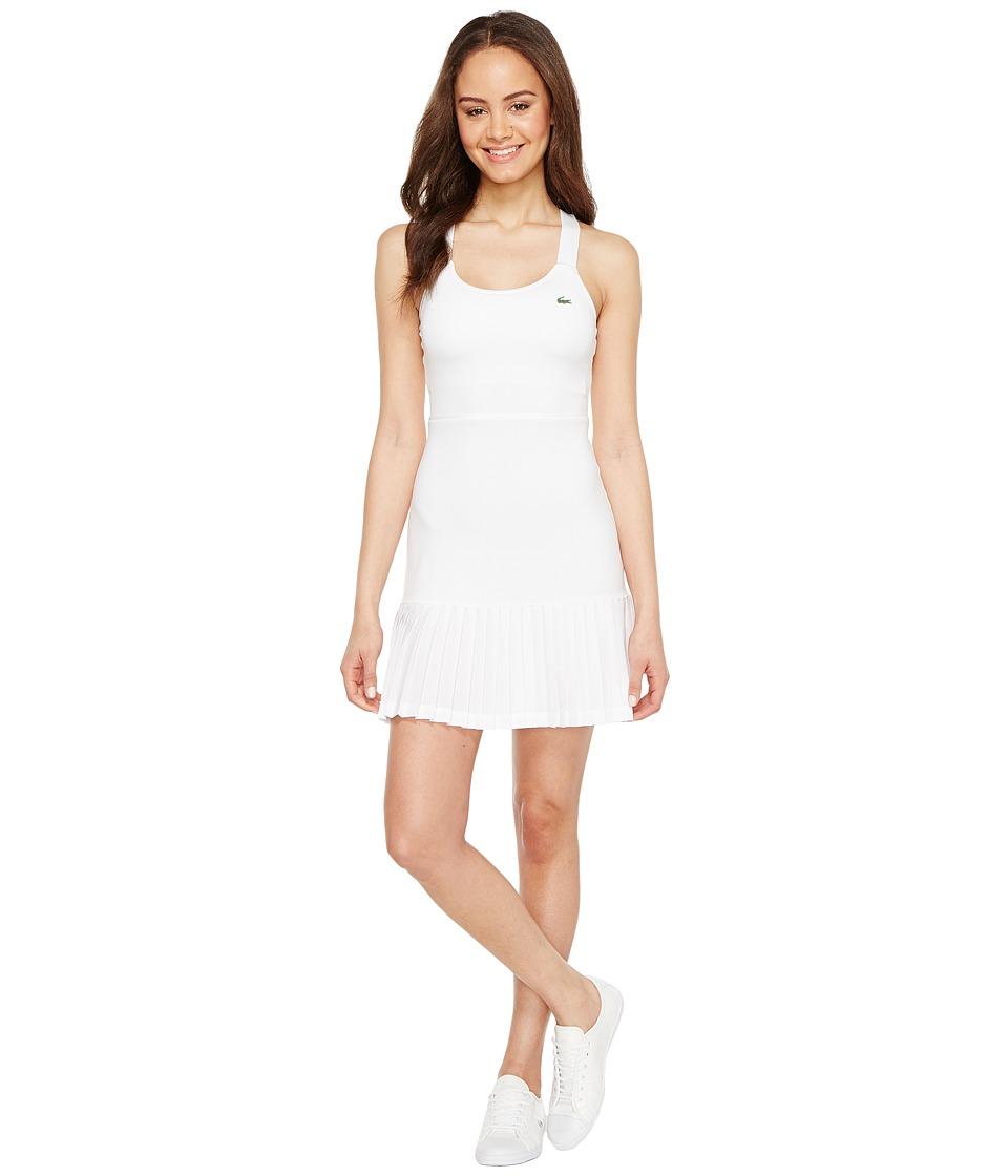 Lacoste - SPORT Australian Open Tennis Dress (White/Navy Blue) Women's Dress