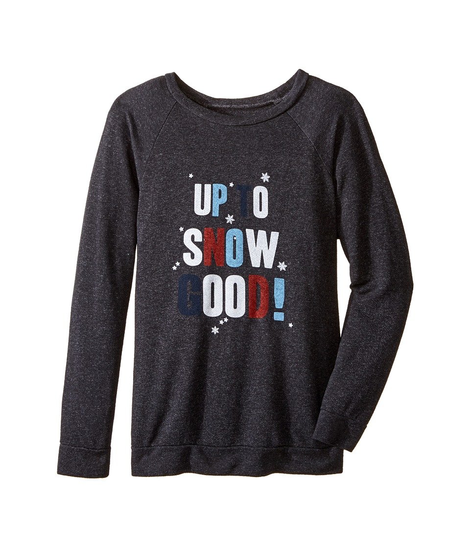 The Original Retro Brand Kids - Up To Snow Good Thermal (Big Kids) (Charcoal) Girl's Clothing