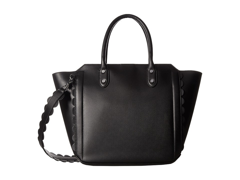Ivanka Trump - Tribeca Solutions Satchel (Black Core/Scallop Edges) Satchel Handbags