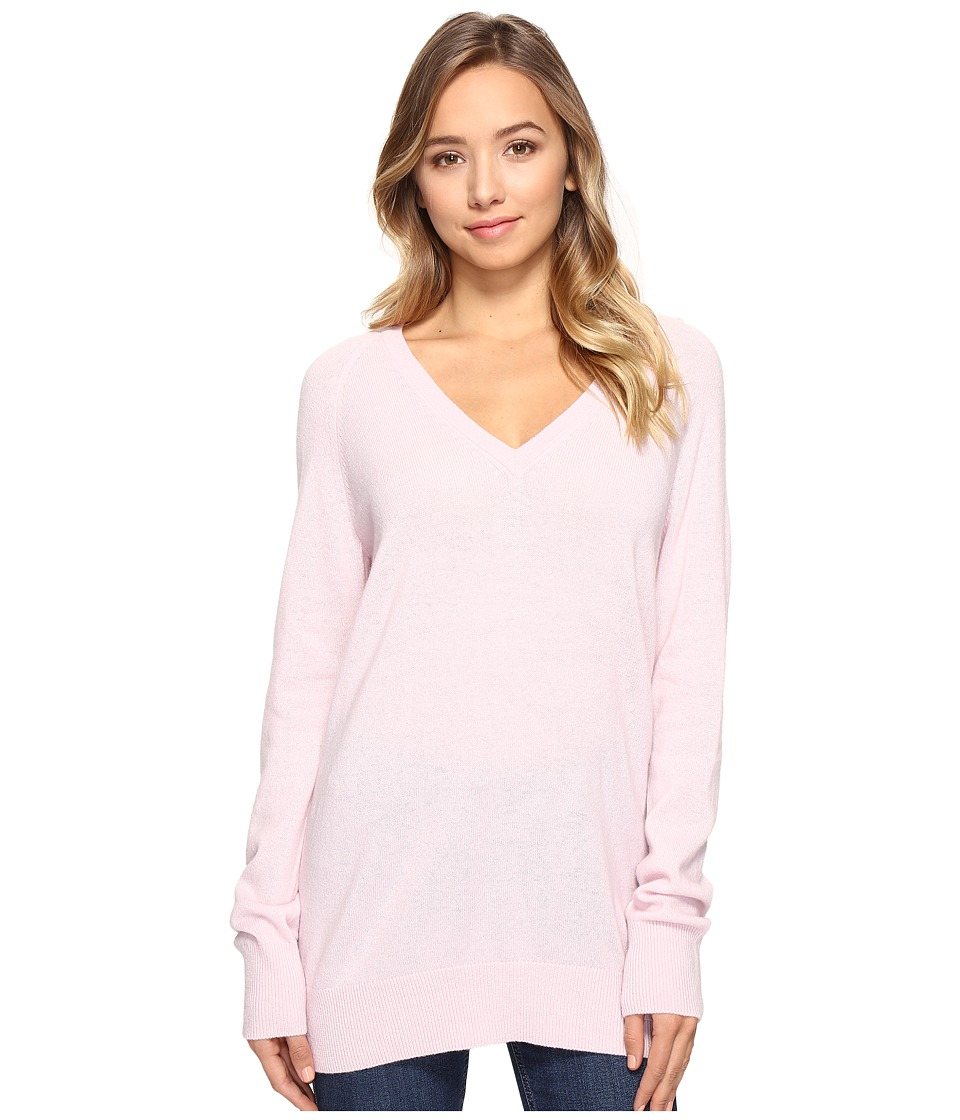 EQUIPMENT - Asher V-Neck (Petal Pink) Women's Long Sleeve Button Up
