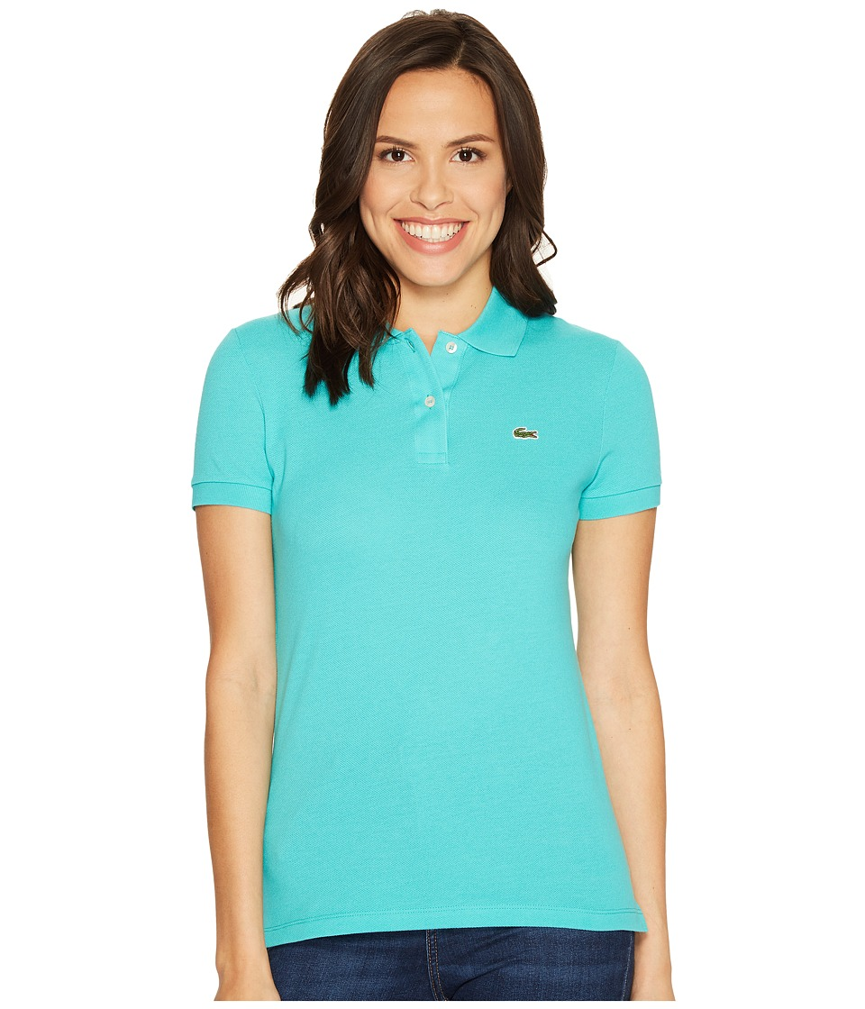 Lacoste - Short Sleeve Classic Fit Pique Polo Shirt (Bermuda 08H) Women's Short Sleeve Knit
