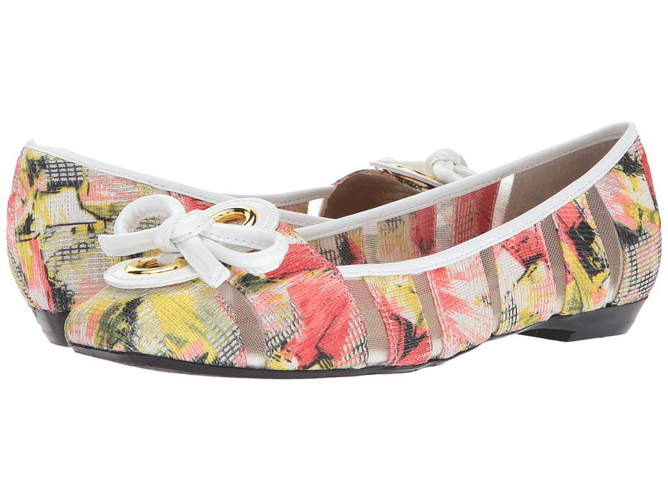 J. Renee - Edie (Coral Multi/White) Women's Dress Flat Shoes