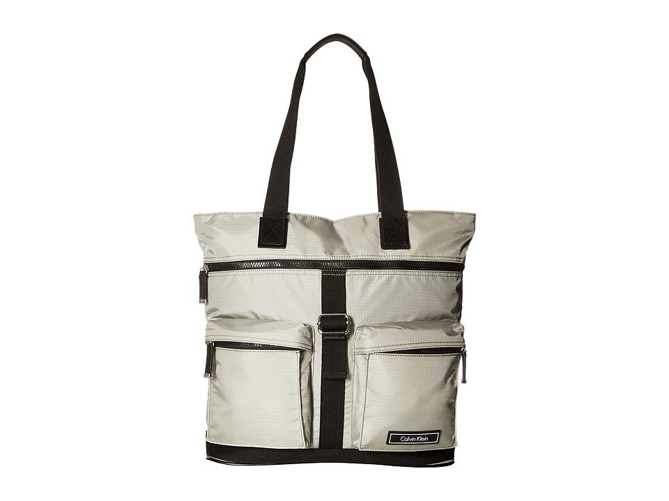 Calvin Klein - Ripstop Nylon Tote (Grey) Tote Handbags