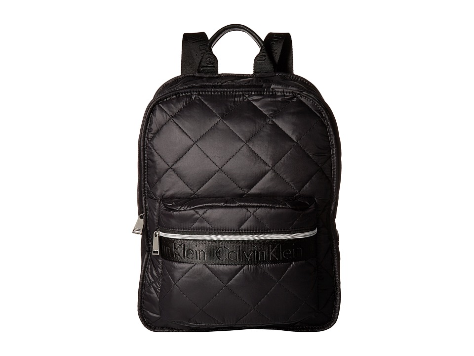 Calvin Klein - Cire Reversible Backpack (Black/Silver) Backpack Bags