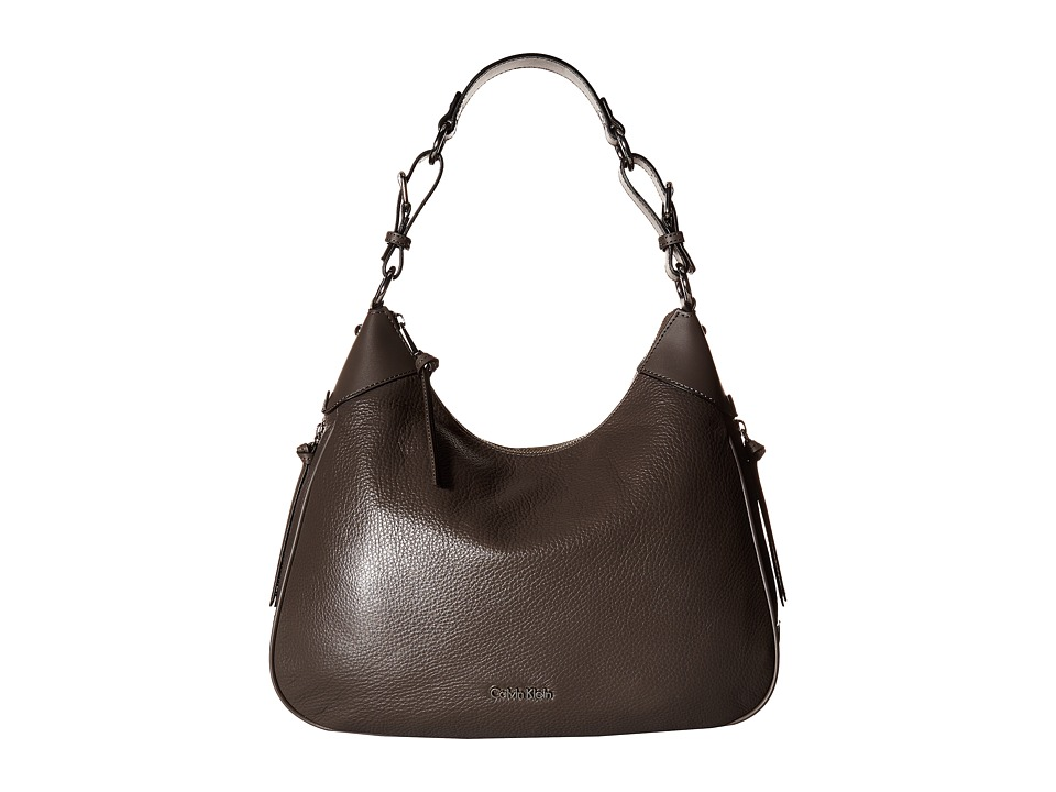 Calvin Klein - Classics Pebble Hobo (Steel) Hobo Handbags