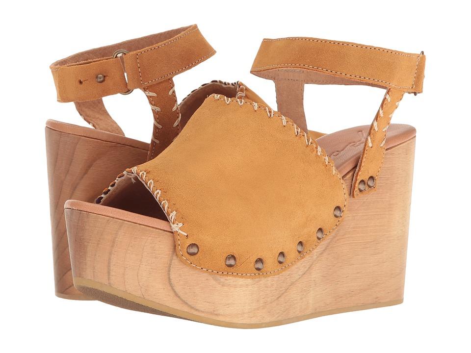 Coolway - Hindix (Cognac Oiled Suede) Women's Sandals