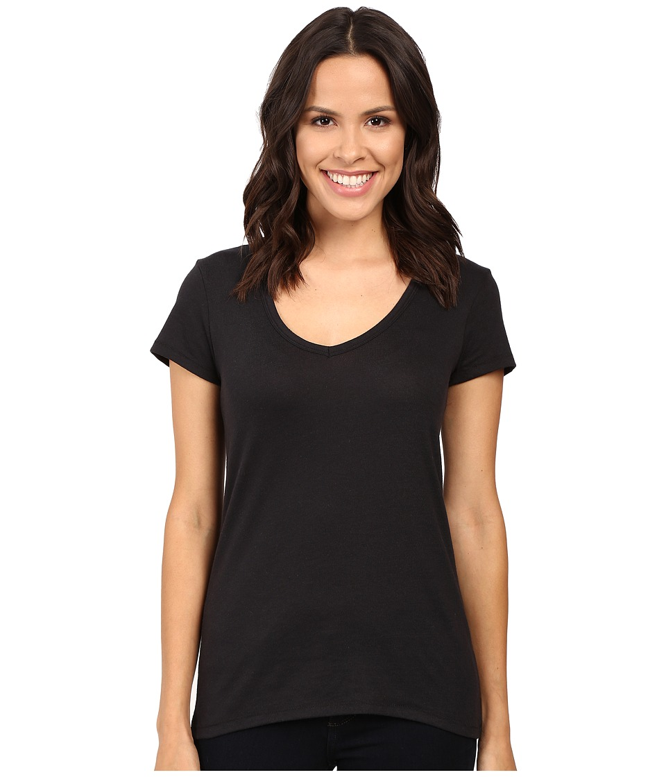 Alternative - Vintage 50/50 The Keepsake V-Neck Top (Black) Women's T Shirt