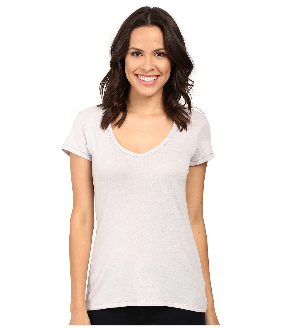 Alternative - Vintage 50/50 The Keepsake V-Neck Top (Silver) Women's T Shirt